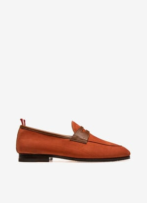 ORANGE CALF NUBUK Loafers and Moccasins - Bally