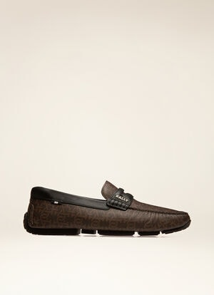 BROWN MIX COTTON/SYNT Drivers - Bally