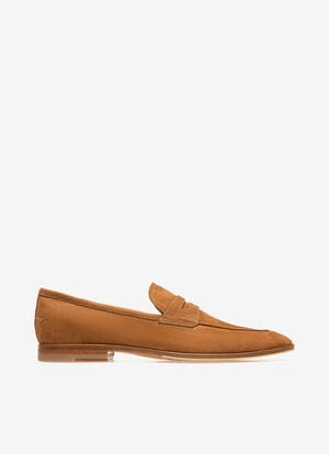 RED CALF NUBUK Loafers and Moccasins - Bally