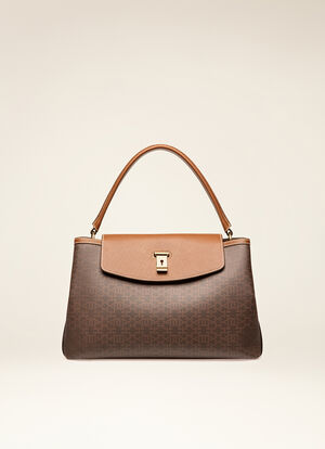 BROWN SYNTHETIC Top Handle Bags - Bally