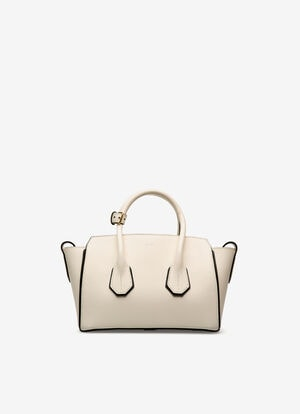 WHITE CALF Top Handle Bags - Bally