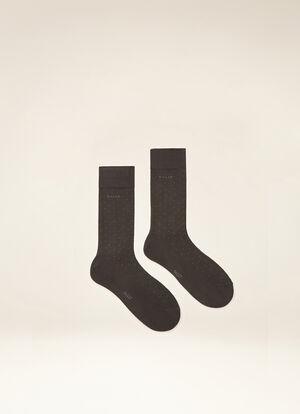 GREY MIX COTTON Socks - Bally