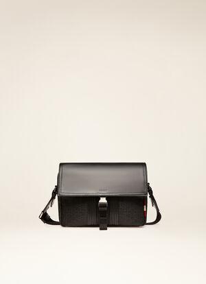 BLACK FABRIC Messenger Bags - Bally