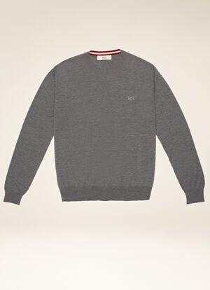 GREY WOOL Knitwear - Bally