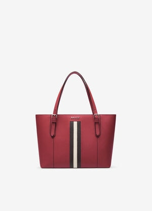 RED BOVINE SPLIT Tote Bags - Bally