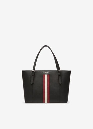 BLACK BOVINE SPLIT Tote Bags - Bally
