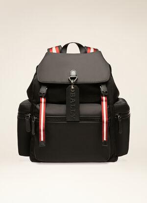 BLACK NYLON Backpacks - Bally
