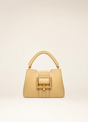 BEIGE BOVINE Top Handle Bags - Bally