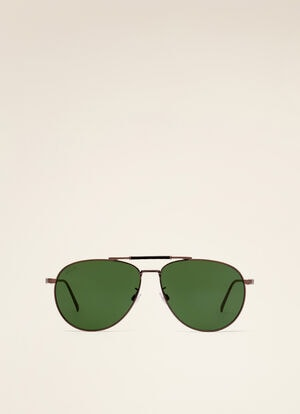 METALLIC METAL Sunglasses - Bally