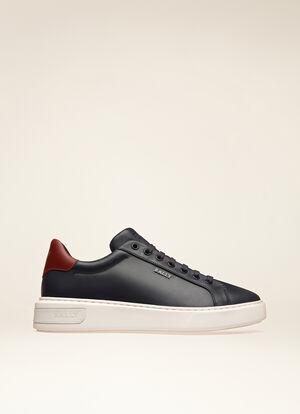 NAVY CALF Sneakers - Bally