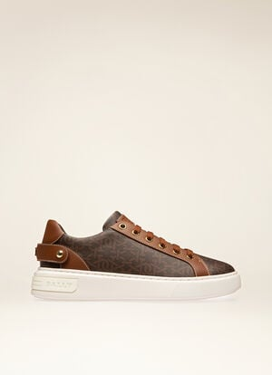 BROWN MIX COTTON/SYNT Sneakers - Bally
