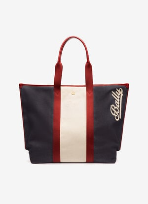 BLUE MIX COTTON/SYNT Tote Bags - Bally