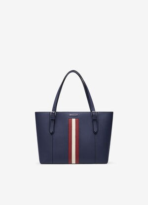 BLUE BOVINE SPLIT Tote Bags - Bally