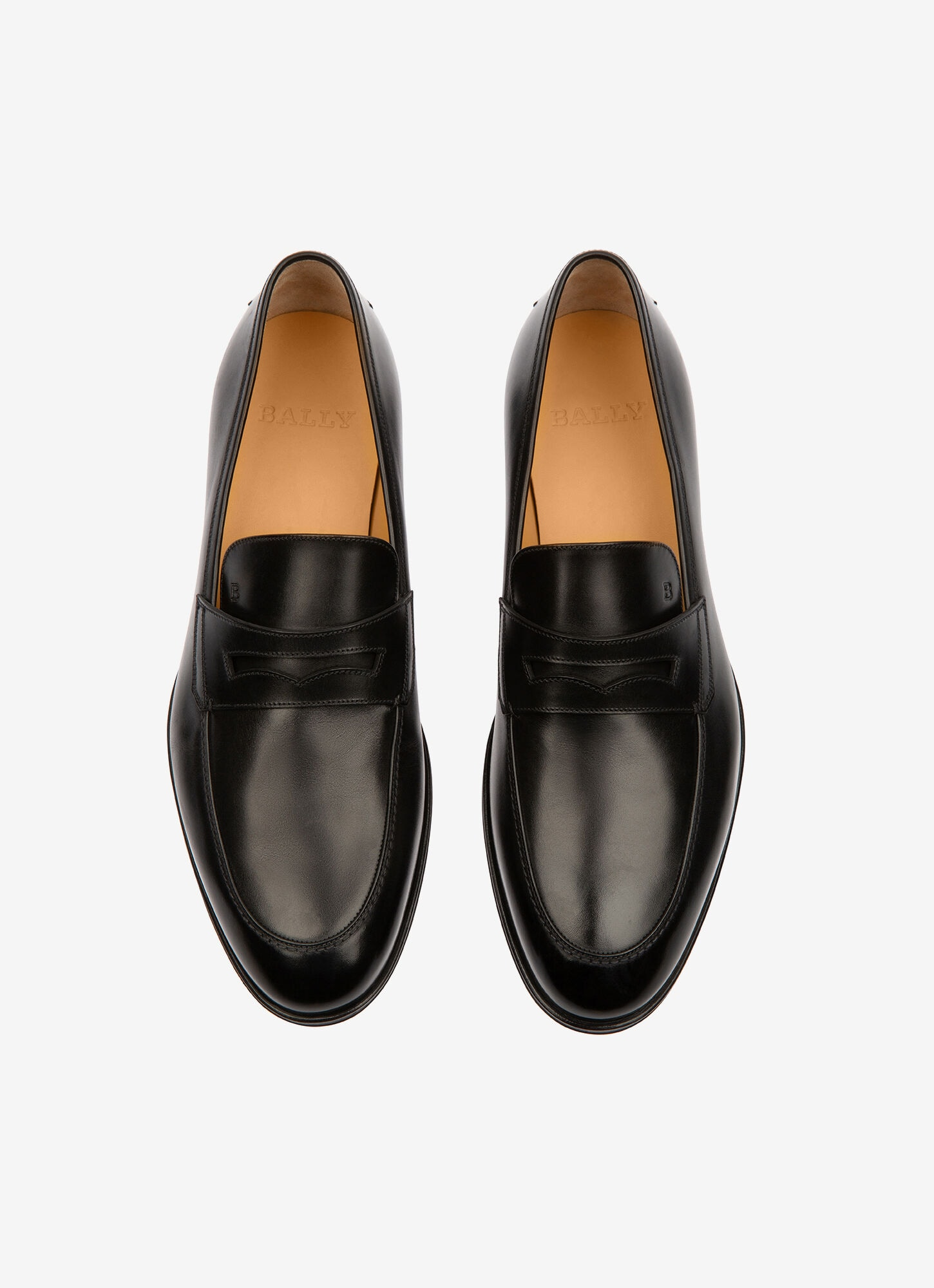 WEBB  Mens Loafers   Black Leather   Bally