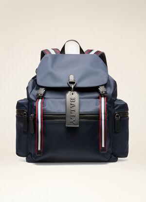 BLUE NYLON Backpacks - Bally