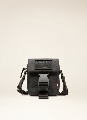GREY FABRIC Messenger Bags - Bally
