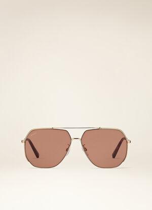 BROWN METAL Sunglasses - Bally