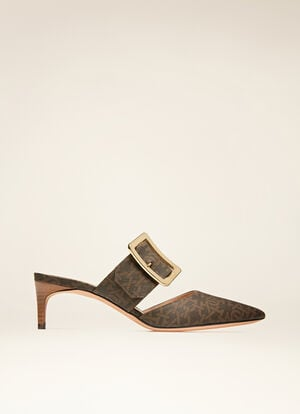 BROWN MIX COTTON/SYNT Pumps - Bally