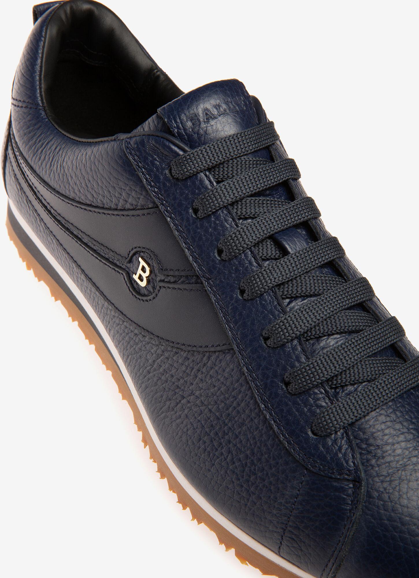 Bredy  Mens Sneaker   Navy Leather   Bally