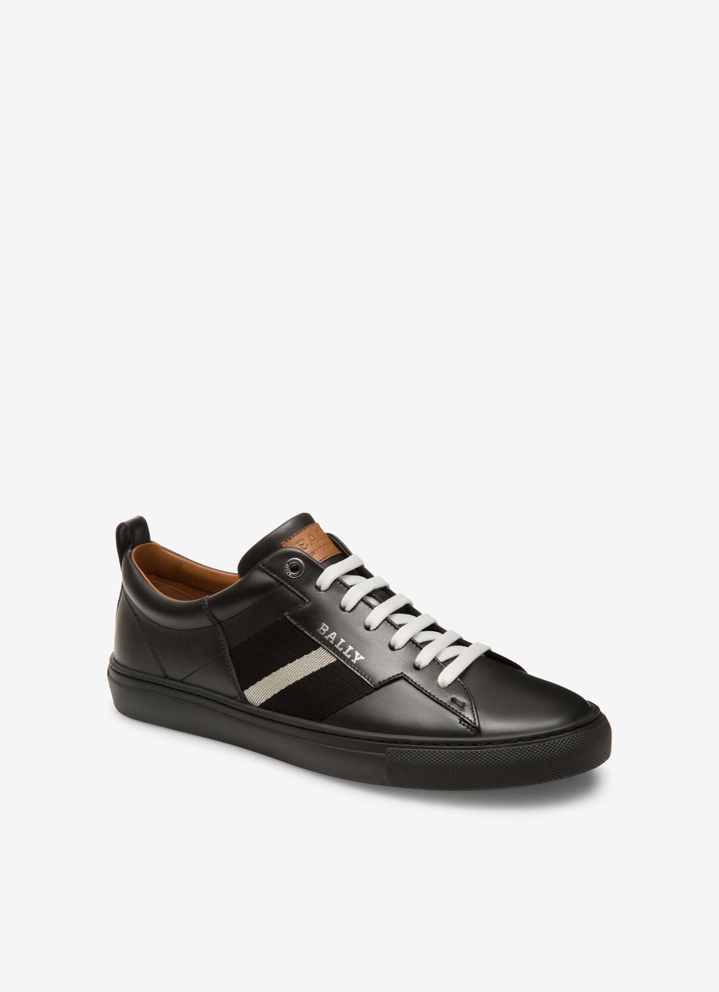 HELVIO| Mens Sneakers | Black Leather