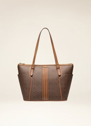 BROWN SYNTHETIC Tote Bags - Bally