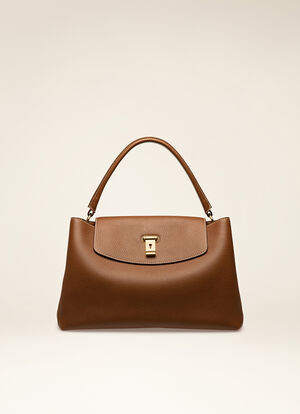 BROWN CALF Top Handle Bags - Bally