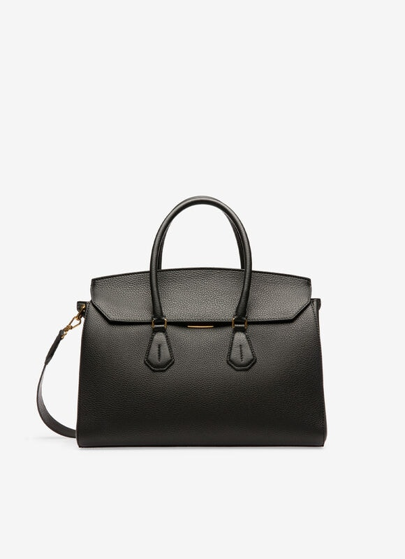 SAPHYR  Womens Top Handle   Black Leather   Bally