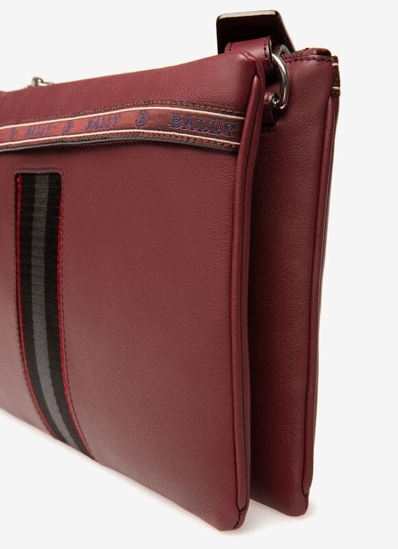 BURGUNDY BOVINE Messenger Bags - Bally