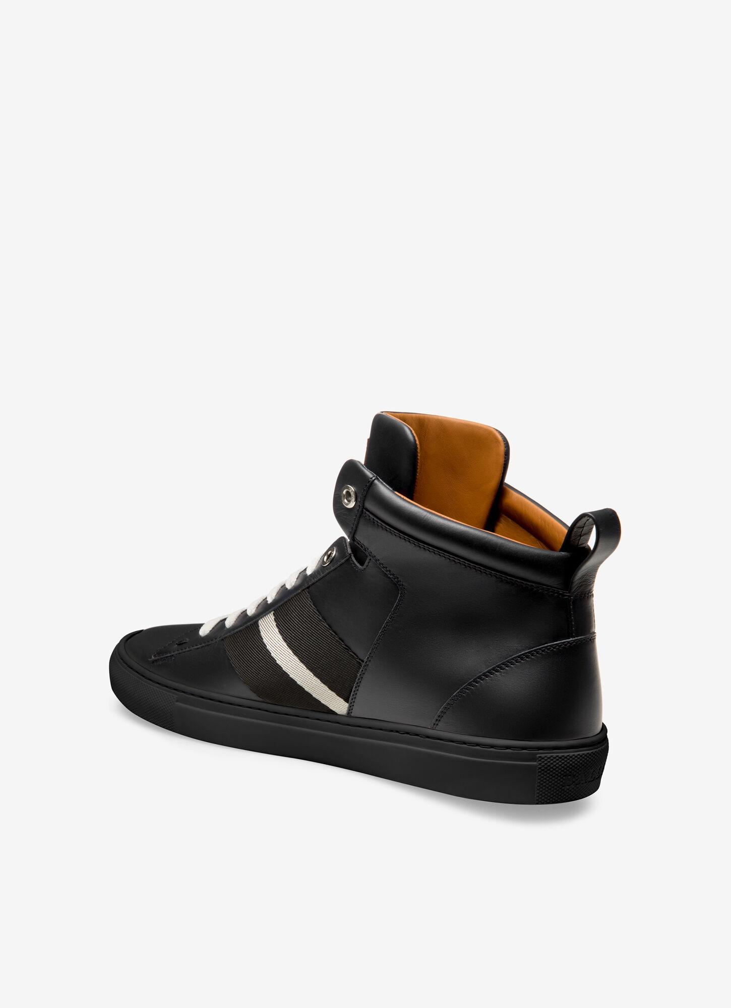 HEDERN  Mens Sneakers   Black Leather