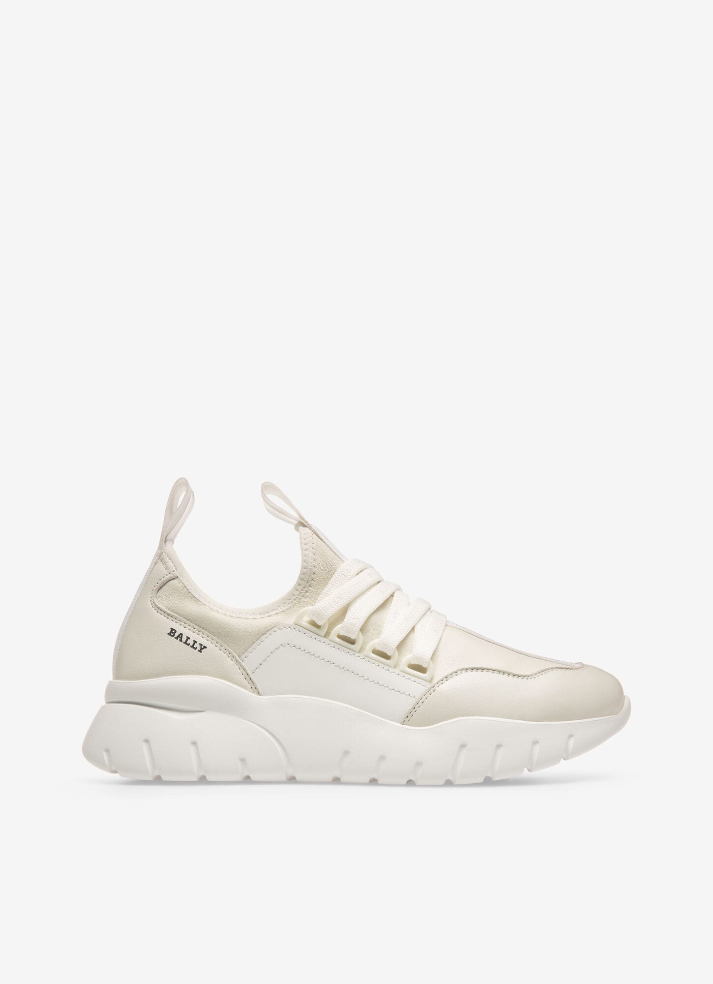 BISE  Womens Sneakers   White Leather