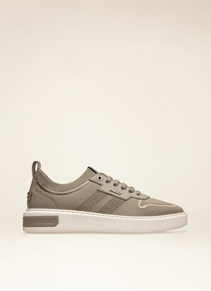 GREY MIX POLYESTER Sneakers - Bally