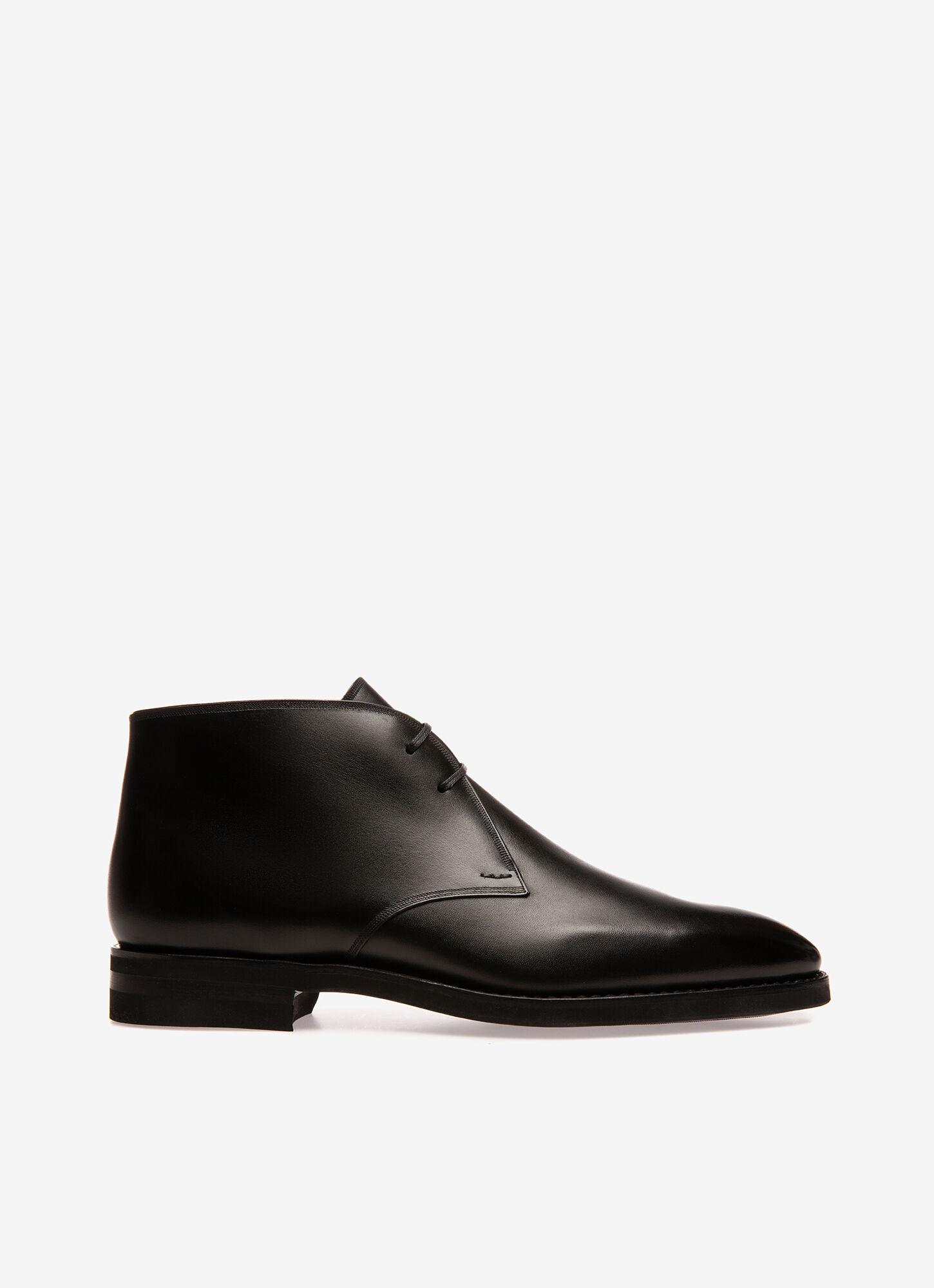 black leather desert boots