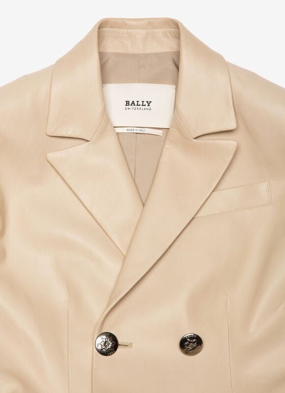 GREY LAMB Leather - Bally