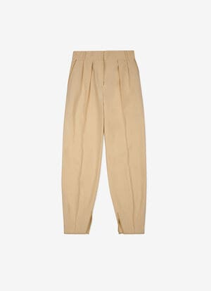 BEIGE MIX COTTON/WOOL Pants - Bally