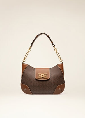BROWN SYNTHETIC Shoulder Bags - Bally