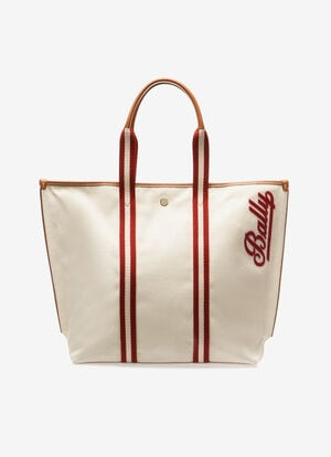 BROWN FABRIC Tote Bags - Bally