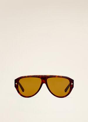 BROWN PLASTIC Sunglasses - Bally