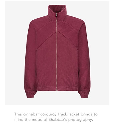Bally cinnabar corduroy track jacket