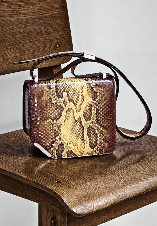 5a59d8bc60 PYTHON TRENCH COAT  the corner bag in python