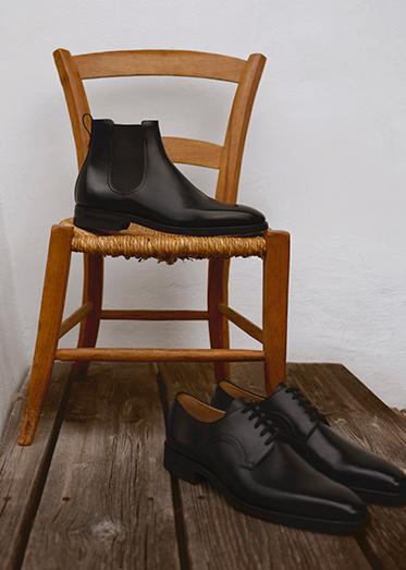 Christmas Man Gifting Shoes