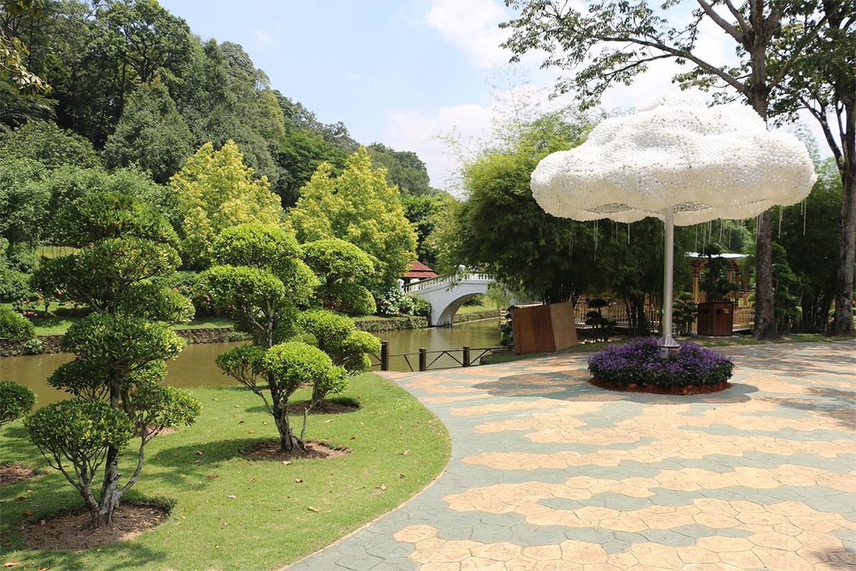 Image of part of the Perdana Botanical Garden in Kuala Lumpur City